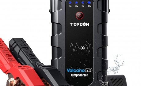 Car Jump Starter TOPDON VOLCANO1500 With 18000mAh Power Bank(Reviews or buying Guide) in 2021